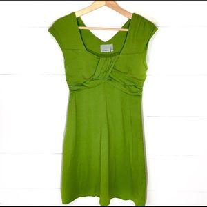 ATHLETA Leighani Dress Leaf Green SMALL EUC
